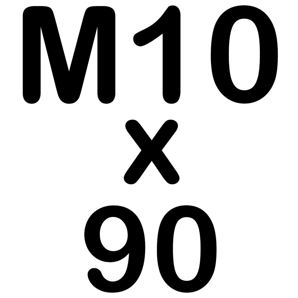 10 Zylinderkopfschrauben M10 x 90 Edelstahl mit Innensechskant Zylinderschrauben DIN 912 A2