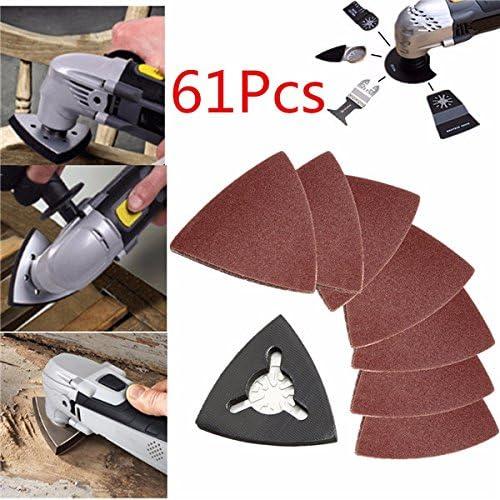 Ils 61 Pi/èces 80mm 40-180 Papier de Pon/çage de Grain pour Fein Multimaster Bosch Oscillant Multitool Outils Oscilla