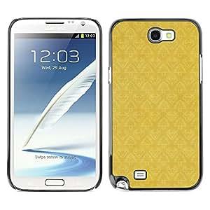 X-ray Impreso colorido protector duro espalda Funda piel de Shell para SAMSUNG Galaxy Note 2 II / N7100 - Wallpaper Pattern Yellow Vintage