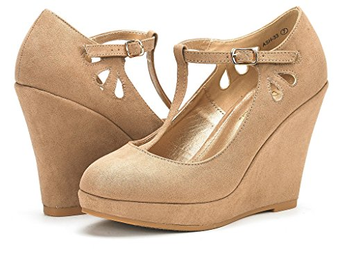 Ash Platform Womens PAIRS Nude Wedge DREAM Shoes Pumps Suede Heel XnAEqwOw