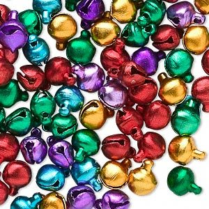 Bell mix aluminum jewel tones 6mm