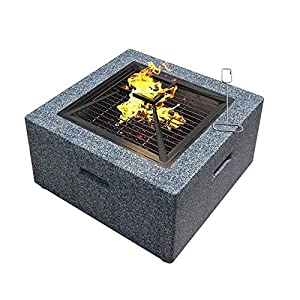 ZOUJUN Fire Pit Outdoor Wood Burning Great for Backyards and Camping park Grill BBQ Multifunctional Barbecue Rack
