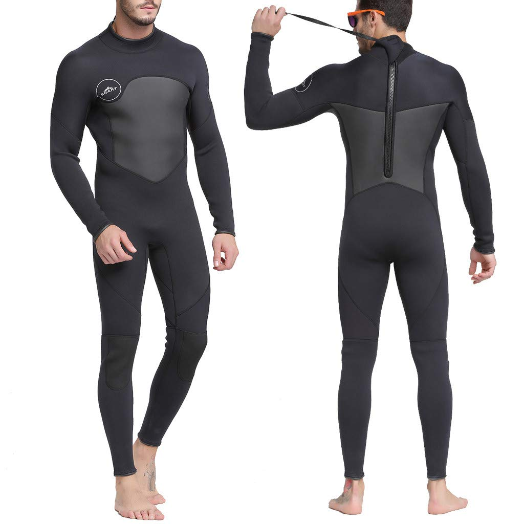 Yliquor New Men Full Body Wetsuit Swimming Diving Snorkeling Surfing Scuba Suit JumpsuitFashion Elastic Training Classic Comfy Quick Dry Breathable
