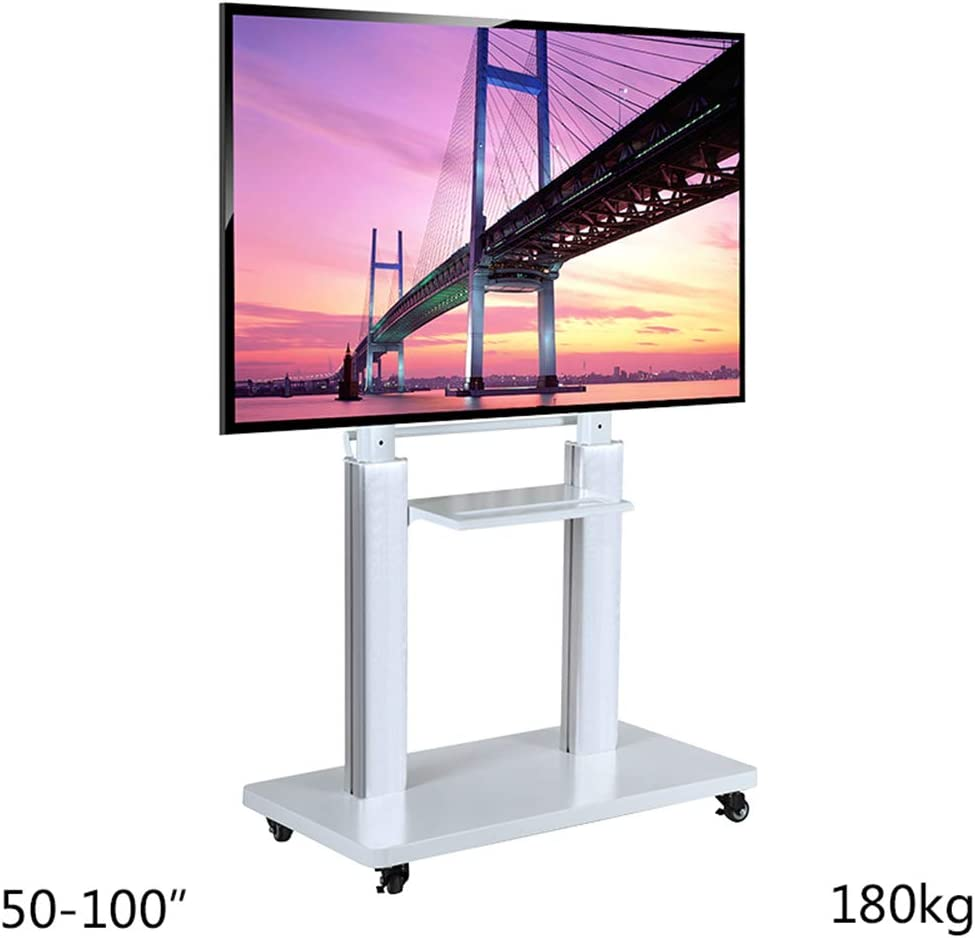 Móvil TV Stand Trolley Carro 50-100 Pulgadas para LCD LED Plasma Paneles Planos Stand con Ruedas Soporte móvil: Amazon.es: Hogar