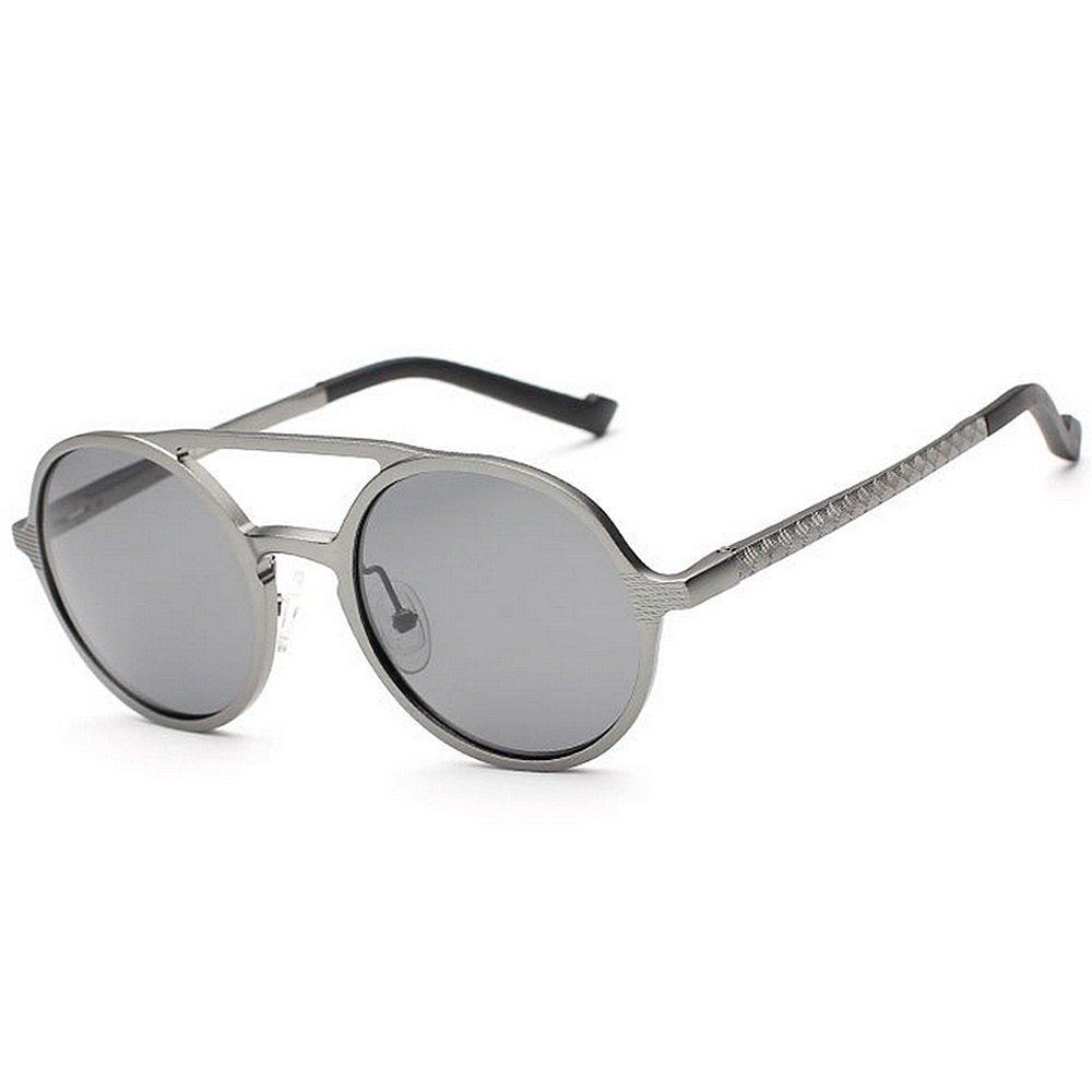 Ju-sheng Gafas de Sol polarizadas para Hombres Gafas de Sol con protección UV para el Marco de Aluminio y magnesio Viajando Béisbol Correr Ciclismo Pesca ...