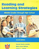 Reading and Learning Strategies : Middle Grades Through High School, Lenski, Susan and Wham, Mary Ann, 0787288802