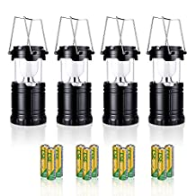 Camping Lantern, PICTEK LED Lantern, Portable Super Bright Outdoor Collapsible Camp Lightweight Flashlights with Long Batteries for Camping Hiking, Emergency Events