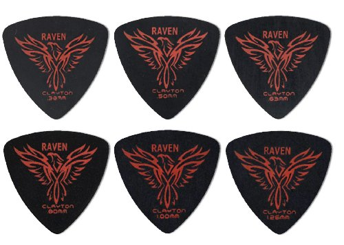 (Clayton Black Raven Guitar Picks (Select from gauges .38mm - 1.26mm))