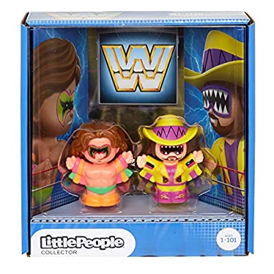 WWE Ultimate Warrior & Macho Man Randy Savage Figures by Little People: Toys & Games