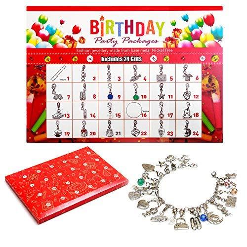 Calendario de Adviento para Niñas, DIY Moda Cumpleaños Adviento Calendario Pulsera Regalos para Niños