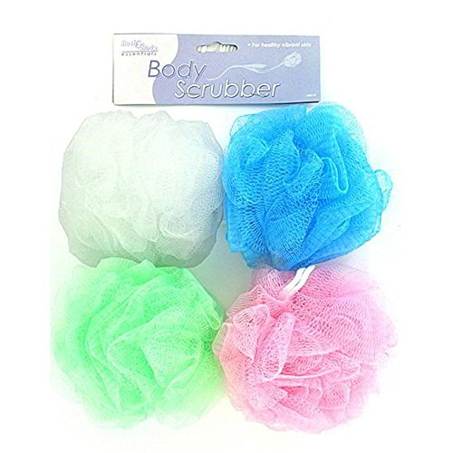 144 Body scrubber (assorted colors) by FindingKing