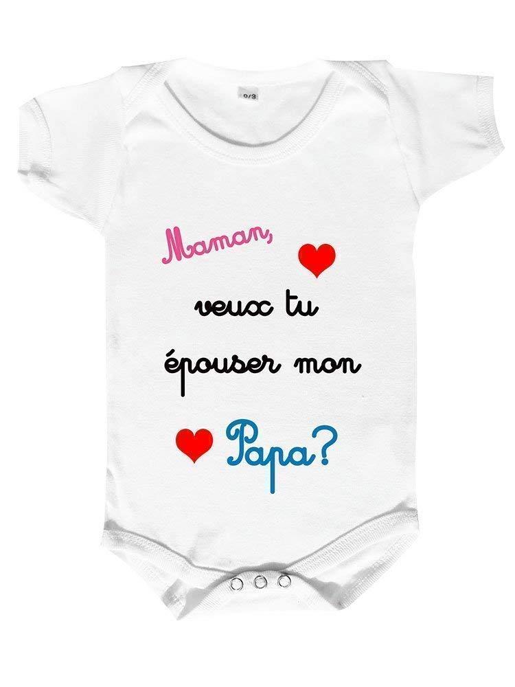T-Shirt b/éb/é Papa Veux-tu /épouser ma Maman ?