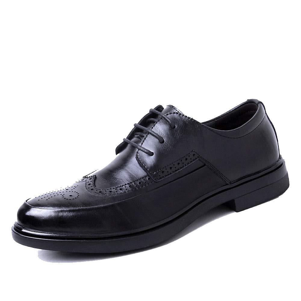 LYZGF, Männer, Spitze, Broch, Lederschuhe Business, Casual, England, Lederschuhe Broch, schwarz 7208bb