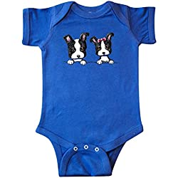 Inktastic Unisex Baby Boston Terriers (Dark Apparel) Infant Creeper by KiniArt Newborn Royal Blue