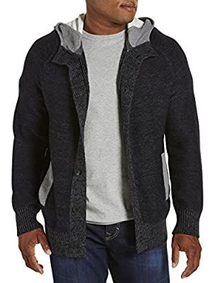 Calvin Klein Jeans Big and Tall French Terry Hooded Cardigan