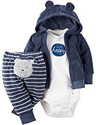 Carter's Baby Boys' 3 Piece Terry Cardigan Set (Baby)