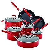 Circulon Innovatum Aluminum 12-Piece Cookware Set, Red