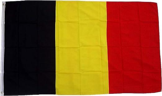 FahnenMax - Bandera de Bélgica (90 x 150 cm): Amazon.es: Jardín