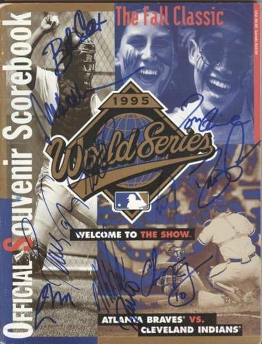 1995 Atlanta Braves World Series Team Autographed Signed Auto World Series Official Program 11 Signatures - Certified Authentic