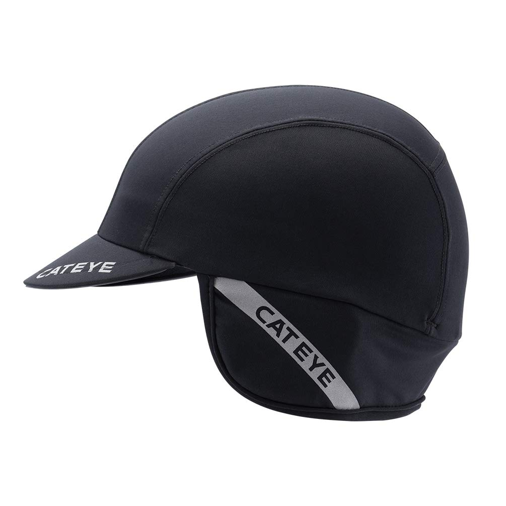 Winter Cycling Cap with Ear Flaps Cap Warm Winter Hat Windproof Helmet Liner for Men Cold Weather Black