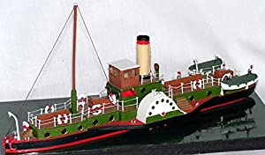 Langley Models 105ft Steam Paddle Boat N Scale UNPAINTED Kit NMB12