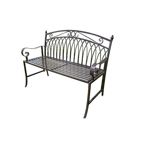 Metal Garden Benches Amazon Co Uk