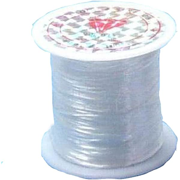 50m Reel x 0.5mm Clear Thread Ideal for stringing NOT STRETCHY Fishing Line