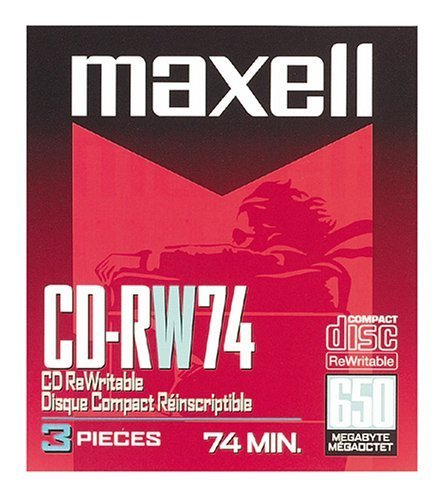 Maxell(R) CD-RW, 650MB/74 Minutes, 1x-4x, Pack Of 3 by Maxell