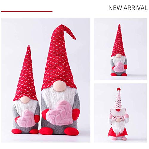 2PCS Valentines Day Decor,Envelope Love Faceless Dwarf,Handmade Valentines Present Plush Decor for The Home Valentines Day Gnomes,Table Ornament