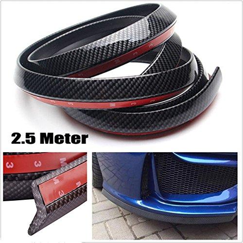Price comparison product image Ronben 2.5M Universal Carbon Fiber Front Bumper Lip Splitter Chin Spoiler Body Kit Trim