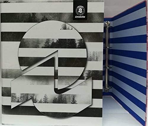 lavoro misura 32x26x4 cm GRAFICHE VARIE 2 pezzi RACCOGLITORE copertina ad anelli maxi SEVEN INVICTA cartella per fogli A4 scuola N