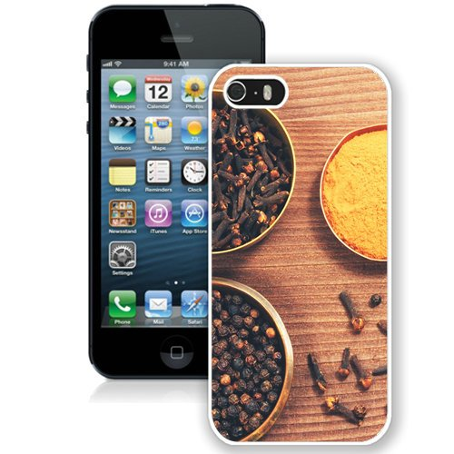 Coque,Fashion Coque iphone 5S Asian Herbs Vintage blanc Screen Cover Case Cover Fashion and Hot Sale Design