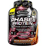 MuscleTech Phase8 Protein Powder, Sustained Release 8-Hour Protein Shake, Milk Chocolate, 73.7 Ounce