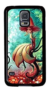 Case Shell for Samsung Galaxy S5 Covered with Cute Little Fairy,Customized Black Hard Plastic Cover Skin for Samsung Galaxy S5 I9600