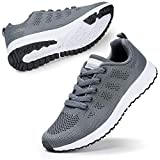 Womens Road Lightweight Running Shoes Trainers Gym Sport Sneakers Comfy Tennis Working Walking Shoes Grey UK 6
