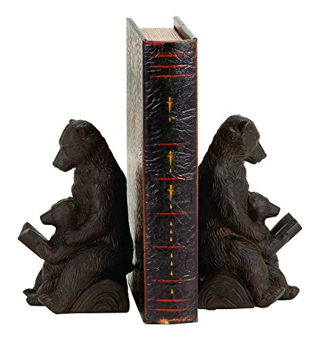 Bellaa 25679 Bear Bookends Mom Cub Reading 7