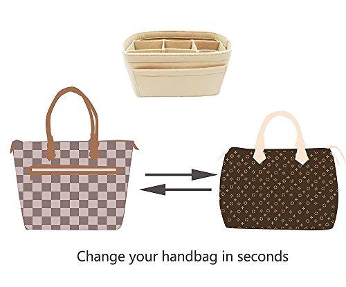 ... LEXSION Felt Insert Bag Organizer Bag In Bag For Handbag Purse Organizer  Fits Speedy Neverfull release  Chacreyas ... f8f6175a68992