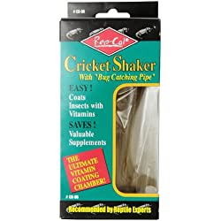Rep-Cal SRP00500 Cricket Shaker with Bug Catching Pipe Reptile Vitamins and Supplements