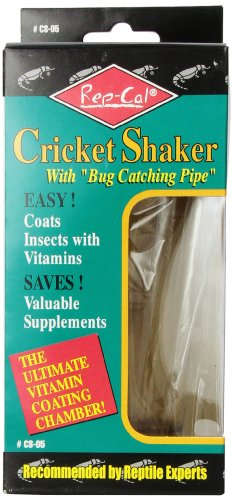 Rep-Cal SRP00500 Cricket Shaker with Bug Catching Pipe Reptile Vitamins and Supplements by Rep-Cal