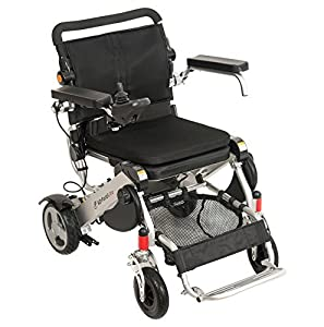 F KD FoldLite Lightweight Portable Folding Electric Power Wheelchair,High Solid CNC Front Fork with Suspension, Supports up to 254 lbs. 2004 by F Kd Foldlite