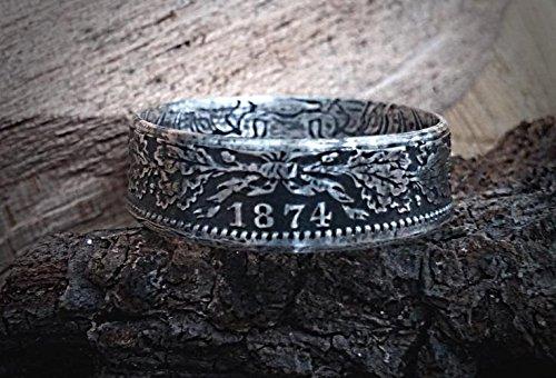 Coinring Münzring Ring Aus Sehr Alter Münze 1 Mark Deutsches