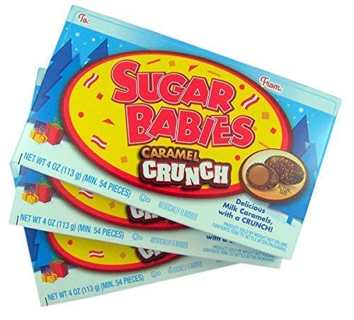 Sugar Babies Caramel Crunch Candy, Pack of 3
