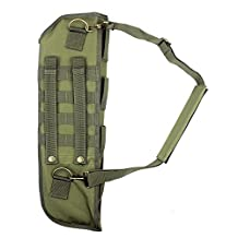 1PCs Hunting Gun Bag Tactical Shotgun Rifle Scabbard Sheath With Molle Webbing Fit for Barrel Under H12 (Green)