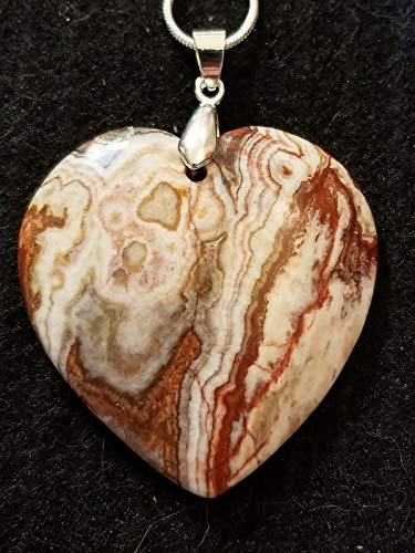 Mexico Crazy lace Agate Pendant Bead Heart Christmas US-583