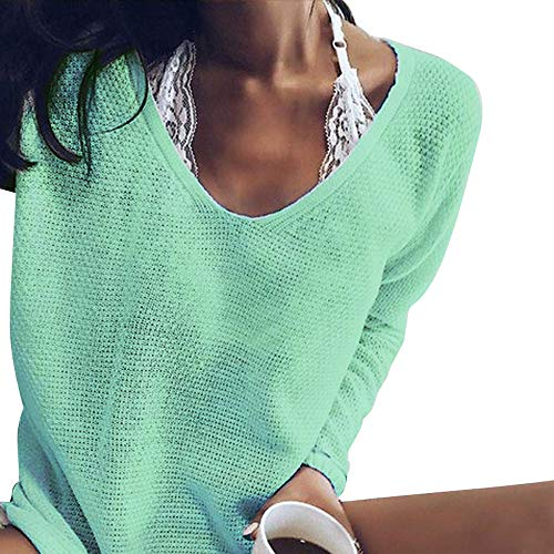 Femmes Ample V 2018 T Pull Vert Longues Manche Tops Long Longue Amlaiworld Tricot Manches Pull dcontract Femme Sweater Pull col Tricots Chandails Shirt Manches Automne en Tricot Pull qvtHgw