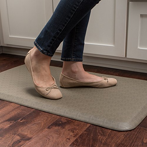 """GelPro Elite Premier Anti-Fatigue Kitchen Comfort Floor Mat, 20x36"""", Linen Sandalwood Stain Resistant Surface with therapeutic gel and energy-return foam for health & wellness by GelPro (Image #8)"""