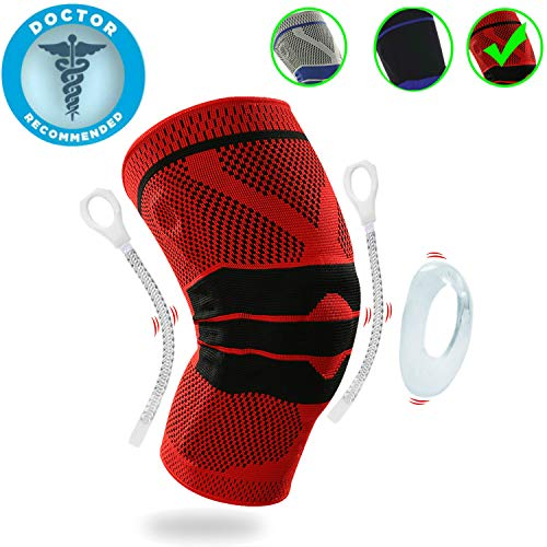 (Lexniush Professional Knee Brace Compression Sleeve - Best Knee Pads Knee Braces for Men Women, Medical Grade Knee Sleeves Support for Meniscus Tear, Arthritis, Joint Pain Relief, Injury Recovery)