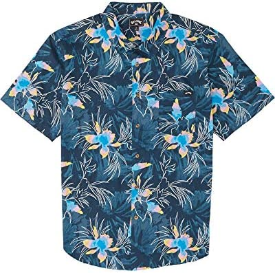BILLABONG - Camisa para Hombre Sundays Floral SS (Navy), Talla M ...