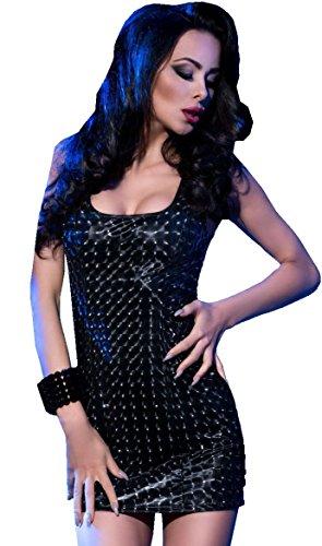 kleine negro ajustado 1001 sachen Vestido agqxqCw41