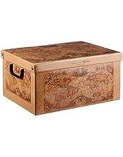 Kanguru BAULETTO Tapirus dekoracyjne pudełko do przechowywania z uchwytami i pokrywką, wielokolorowe